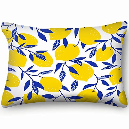 best bags Tropical Yellow Lemons Fruit Throw Pillow Case Cushion Cover Double Side Design 20