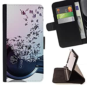 For Samsung Galaxy S3 III I9300 Headphones Music Symbol Love Ears Notes Style PU Leather Case Wallet Flip Stand Flap Closure Cover