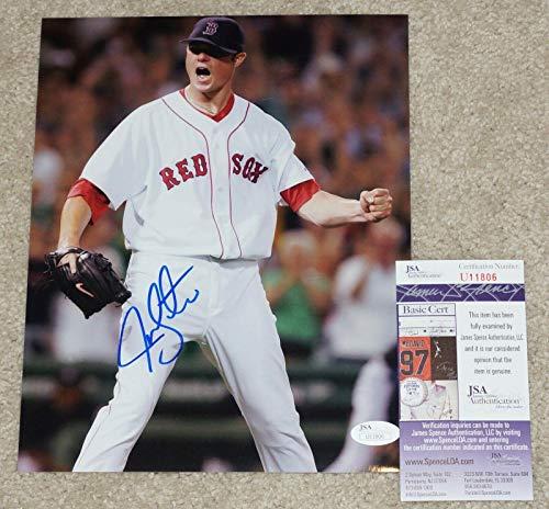 Autographed Jon Lester Photo - 8x10 + COA U11806 - JSA Certified - Autographed MLB ()