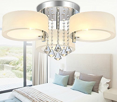 oofay light contemporary minimalist crystal ceiling light with 3