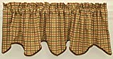 Cheap Charleston Wave Valance 70Wx15L- Brown