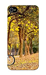 Crooningrose F5a265b5332 Case For Iphone 5/5s With Nice Spring Flowers Yellow Trees Bike Autumn Fall Mood Bokeh Appearance