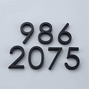 Sign Printed Plaque Modern Self Adhesive Door Number Sign 0-9 Number Digit Apartment Hotel Office Door Address Street Number Stickers Plate Sign (Color : 3)