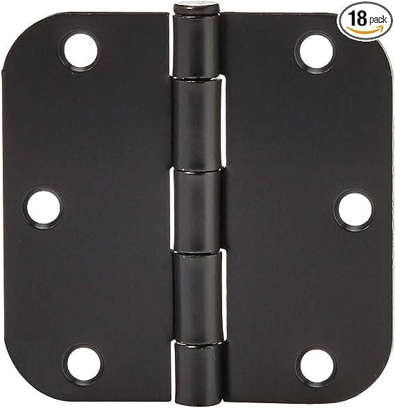 """50 Pack of Door Hinges Black 3 1//2/"""" x 3 1//2/"""" Inch Interior Hinges for Doors"""