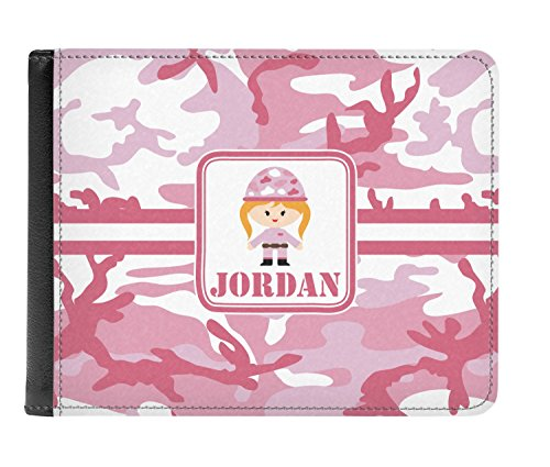 Personalized Pink Men's Leather Camo Pink Bi Genuine Wallet Camo fold 4Twq64z