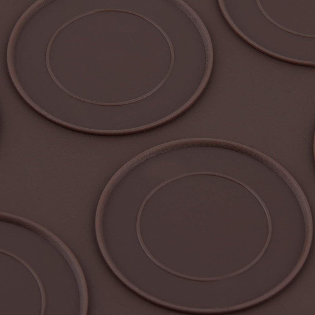 Leoboone Profesional grandes 30 Macarons//Hoja de molletes silicona Formas de pasteler/ía estera de la taza de la torta del molde Mat Bandeja de horno pasteler/ía molde para hojas