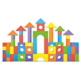 Foam Building Blocks, Building Toy for Girls and Boys, Ideal Blocks/Construction Toys for Toddlers, High Quality 52 Pieces Different Shapes and Sizes, Waterproof, Bright Colors, 100% Safe, Non-Toxic.