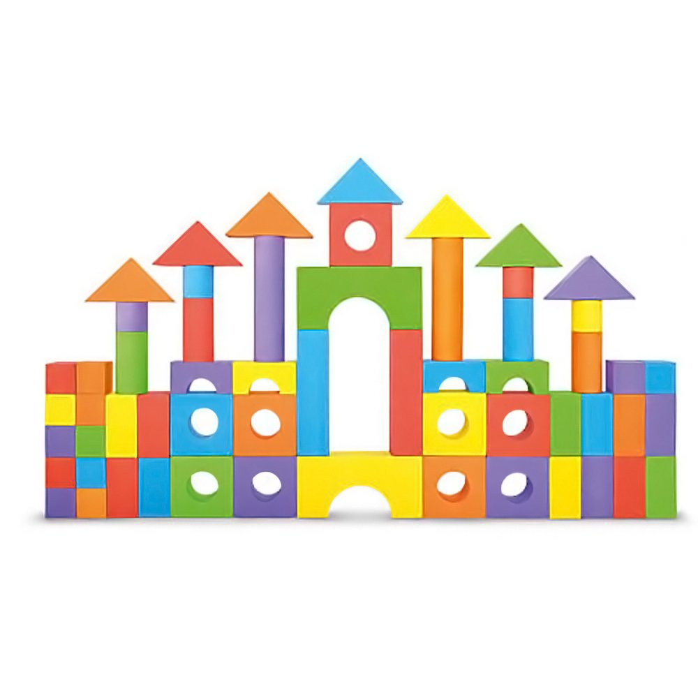 Foam Building Blocks, Building Toy for Girls and Boys, Ideal Blocks/Construction Toys for Toddlers, High Quality 52 Pieces Different Shapes and Sizes, Waterproof, Bright Colors, 100% Safe, Non-Toxic. Number 1 in Gadgets