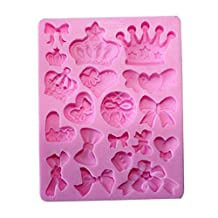 Click Down Multi-pattern Fondant Cake Chocolate Silicone Mold Pink