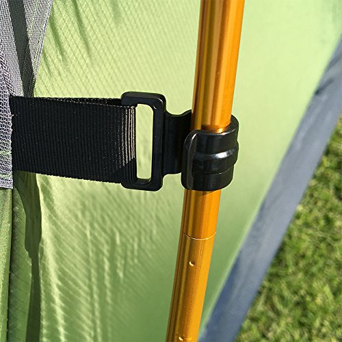 SAFACUS Camping Tent for Hiking Mountaineering Lightweight Portable Easy Set Up Tents with Compact Folding Aluminum Poles(Green 1people