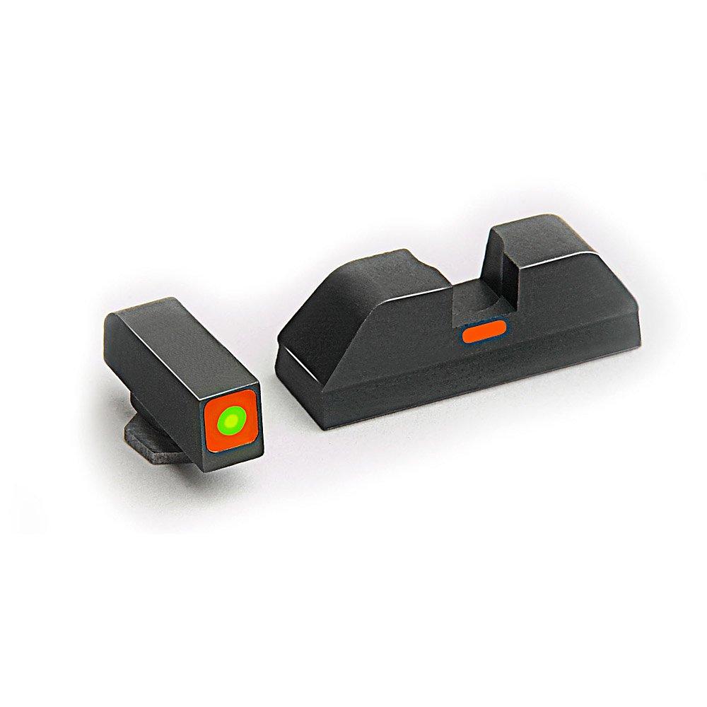 AmeriGlo Combative Application Pistol Sight fits Glock 17,19,22,23,24,26,27,33,34,35,37,38,39, Green/Orange by AmeriGlo