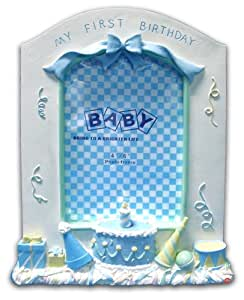 "Bollo Regalo Baby's First Birthday Photo Frame-Blue 6x4"" R108-25B"