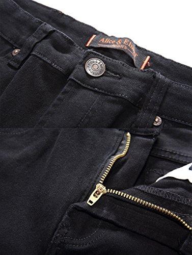 Fit Vaqueros Slim amp; Elmer Rectos Alice Jeans para Negro Hombre ZYtxOwZ