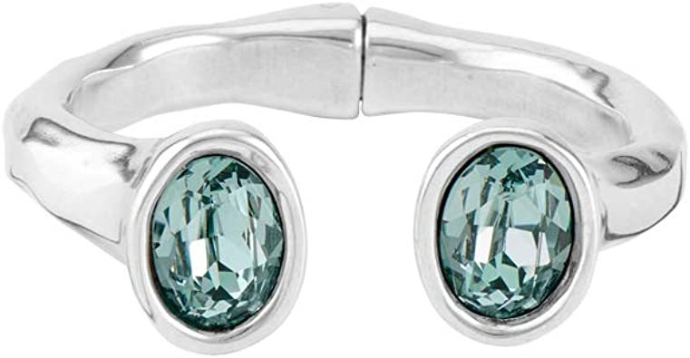 Rigid bracelet in metal clad with silver.