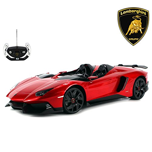 AJ Toys & Games Electric Remote Control Car Big 1:12 Scale Ready to Run Lamborghini Aventador J Roadster Limited Edition, RC Supercar, Exotic Italian RC ()