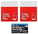 Impossible/Polaroid Color Glossy Film Polaroid SX70 Cameras - 2 Pack