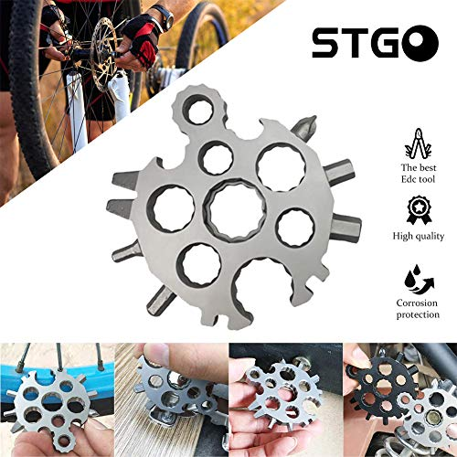 2019 New Snowflake Multi-Tool Card 20-in-1 Stainless Steel, Outdoor Travel Camping Multi-Function EDC Key Ring/Bottle Opener/Screwdriver/Fashion Pendant Pocket Size,Christmas Gift 1 Pcs (Best Camping Tools 2019)