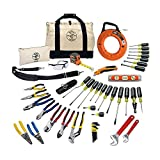 plumber tool kit - Tool Set with Utility Knife, Adjustable Wrenches, Screwdrivers, Pliers, and More, 41 Piece Klein Tools 80141 Klein Tools 80141