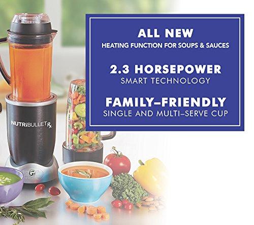 -[ NUTRiBULLET Rx Blender and Food Processor, 1.27 L, 1700 W  ]-