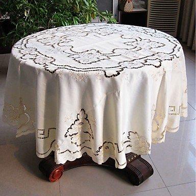 Beautiful YZL 175cm Round Tablecloth Cutworking Embroidered Tablecloth 68 Inches Round  Table Cover