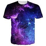 cool shirts - Uideazone Mens 3d Nebula Star Cluster Crewneck T-shirt Juniors Cool Tee Tops