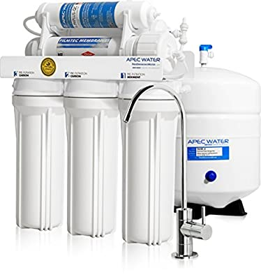 APEC Top Tier Supreme Certified Alkaline Mineral pH+ High Flow 90 GPD 6-Stage Ultra Safe Reverse Osmosis Drinking Water Filter System (ULTIMATE RO-PH90)