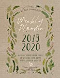 2019-2020: Botanical Planner 18 Month Weekly Monthly July 2019 - December 2020 8.5x11 - Large Calendar Organizer For Women With Notes Section, Dot Grid Pages. Vintage Nature Leaves by Stylesyndikat Planner Calendar