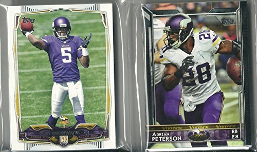 Minnesota Vikings Team Set - 2011, 2012, 2013, 2014 & 2015 Topps Football Minnesota Vikings 5 Team Set Lot 67 Cards Teddy Bridgewater Rookie Card
