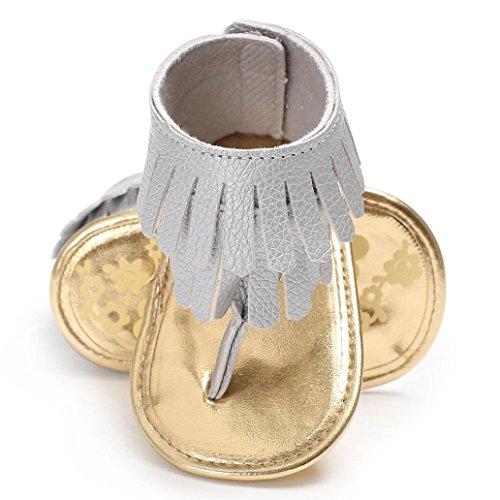 421599264 Voberry Toddler Baby Girls Tassel Sandals Soft Soled Anti-slip Fringe  Footwear Shoes