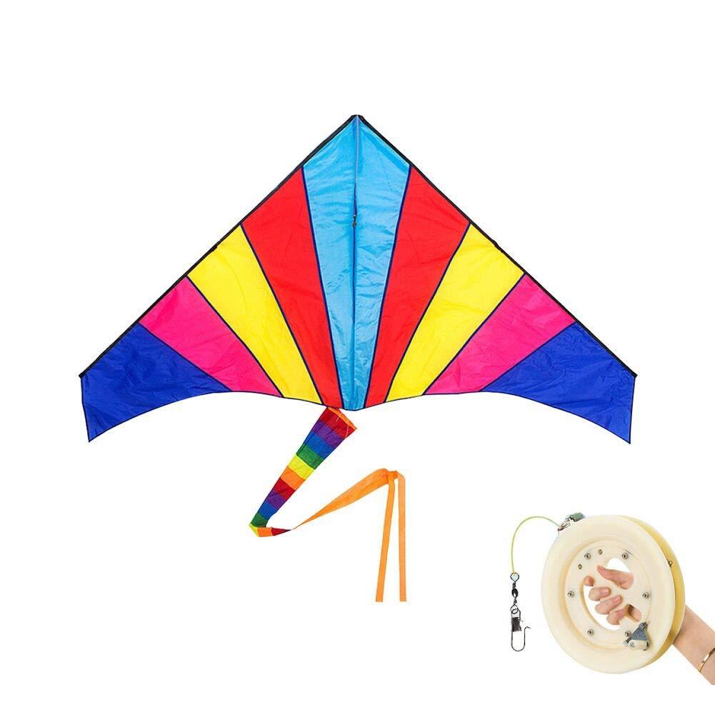 ZHWeißDrachen Drachen Regenbogen-Dreieck-Drachen Einfach Zu Fliegen Leitungslänge 200 400 700m Erwachsene Kinder Drachen (größe   Line Length 700m)  Line length 400m