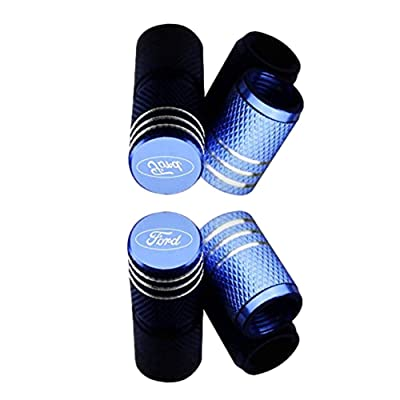 MARLBSTON 4pcs Car Tire Stem Valve Caps Wheel Tyre Dust Stems Cover Compatible with Cars, SUV, Truck, Motorcycles (Blue): Automotive