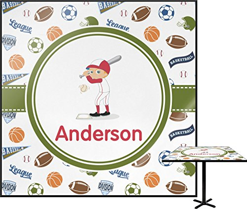 Sports Square Table Top - 30'' (Personalized) by RNK Shops