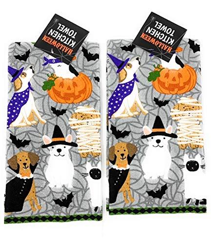 Mainstream Halloween Costume Puppy Dogs Allover Kitchen Dish Towel 2 pk. - 15 Dish Puppy Inch