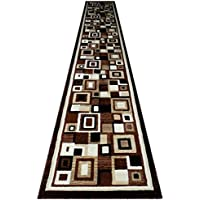 Modern Long Rug Runner 32 In. X 15 Ft. 10 In. Brown Design # 125