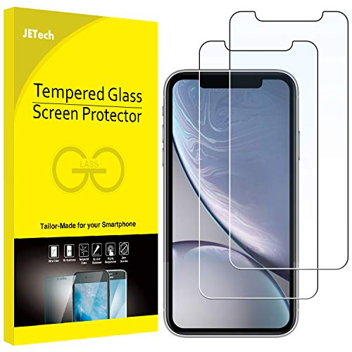 JETech Screen Protector for Apple iPhone XR 6.1-Inch, Tempered Glass Film, 2-Pack