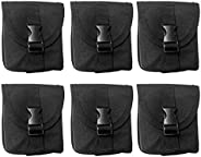 Tongina 6pcs/Set Dive Weight Pocket BCD Accessory Pouch Bag for Scuba Diving, Snorkeling, Spearfishing