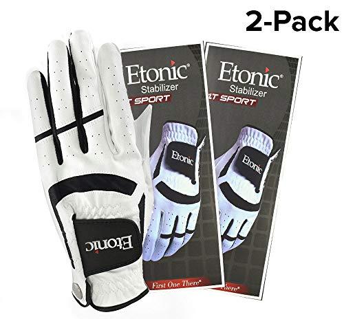 Etonic New Golf- MLH Stabilizer F1T Sport White/Black Glove (2 Pack) ()