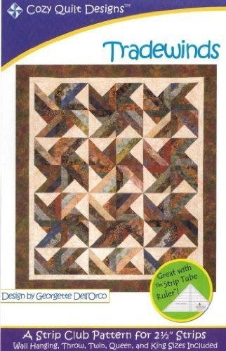 Trade Winds Tradewinds Quilt Pattern, Jelly Roll 2.5 Inch St