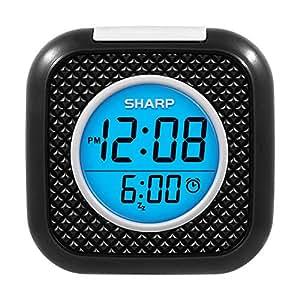 Sharp Vibrating Pillow Alarm Clock Black Alarm Clocks