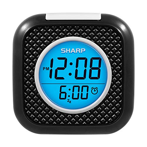 SHARP Pillow Personal Alarm Clock - Wake to Vibration or Beep! - Use on Nightstand or Under Pillow! - Great for Travel or Home Use - Black