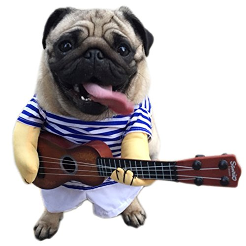 Rock Star Dog Costumes (Alfie Pet by Petoga Couture - Erin Guitarlist Rock Star Costume - Size: Large)
