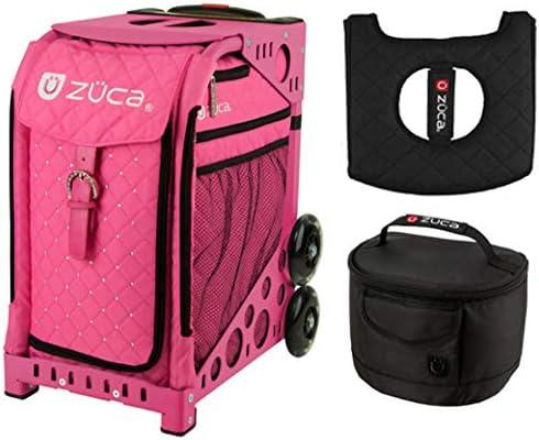 Zuca スポーツバッグ - ピンクホット ギフト付き ホットピンク/ブラックシートカバー ブラックランチボックス(ピンクフレーム)