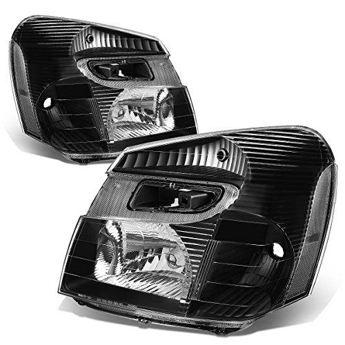 For Chevy Equinox SUV Sport 4-Dr Pair Black Housing Clear Corner Headlight Lamp