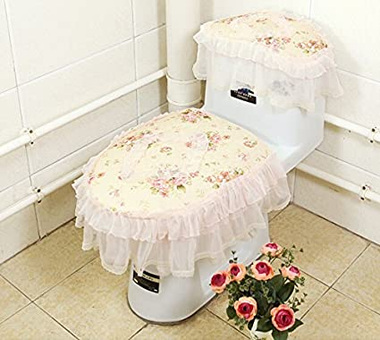 Greatest Amazon.com: Practical 3-piece Tank Cover, Toilet Seat Cover Set  EF68