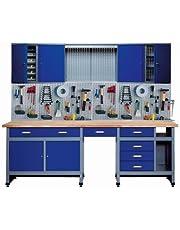 Küpper 70412-7 Set voor werkplaats, 240 cm, gemaakt in Duitsland, kleur: ultramarijn