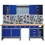 Küpper Sparset 70412–7, Set für Werkstatt, 240cm, hergestellt in Deutschland, Farbe: ultramarin