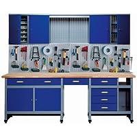 Küpper 70412-7 - Set para taller, 240 cm, fabricado en Alemania, color: azul oscuro (Blu oltremare)