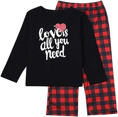 Yamer - Conjunto de 2 pijamas de Navidad para familia y ...
