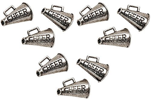 Metal Charms: Silver Cheer 8/Pkg (3 Pack)
