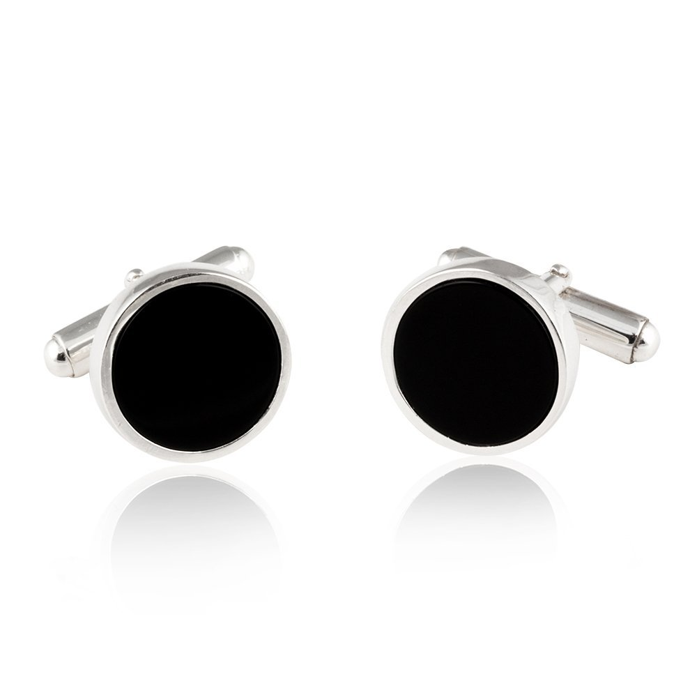 Cuff-Daddy Sterling Silver Onyx Cufflinks & Studs with Presentation Box by Cuff-Daddy